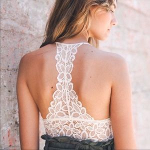 Blossom & Thorn Intimates & Sleepwear - Crochet lace floral ivory bralette